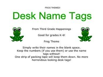 Frog Desk Name Tags