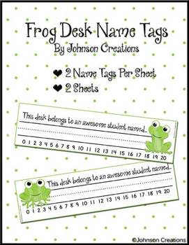 Frog Desk Name Tags by Johnson Creations