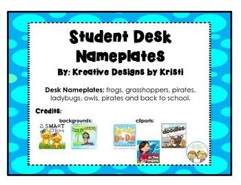 Frog Nameplates - Cursive