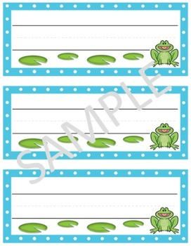 Frog Desk Nametags