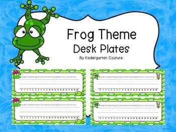 Frog Desk Plates