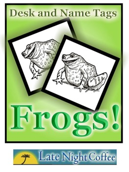 Frog Desk Tags  and Name Tags