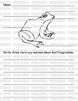 Frog Diagram and Writing