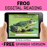 Frog Reading Comprehension for Google Classroom