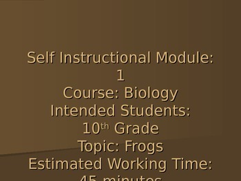 Frog Dissection Simulation