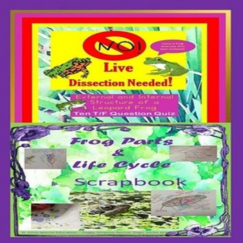 Frog Dissection Test & Scrapbook SPED/ODD/SPD/SLD/Autism/ESL