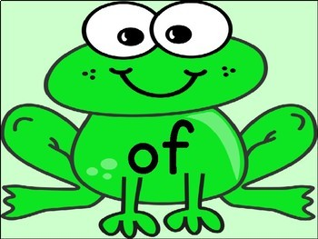 Green Frog Dolch First Grade Sight Word Flashcards and Posters