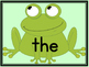 Frog Dolch Pre-Primer Sight Word Flashcards and Posters
