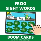 Frog Dolch Pre-Primer Sight Words Spy BOOM Cards (distance