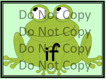 Frog Dolch Pre-Primer-Third Grade Sight Word Flashcards and Posters
