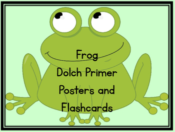 Frog Dolch Primer Sight Word Flashcards and Posters