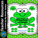 Frog Dolch Second Grade Sight Word Flashcards and Posters