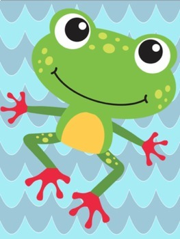 Frog Editable Labels and Posters
