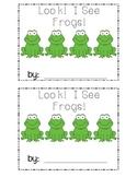 Frog Emergent Reader Number Words