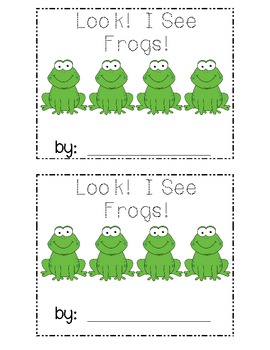Frog Emergent Reader Number Words