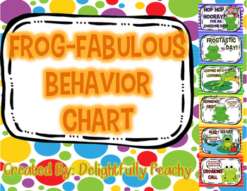 Frog-Fabulous Behavior Chart