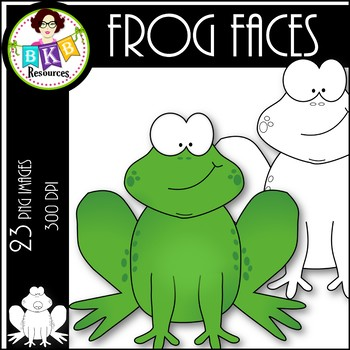 Frog Faces ● Clip Art ● Products for TpT Sellers