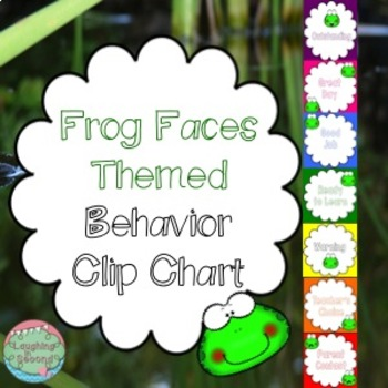 Frog Faces Themed Behavior Chart