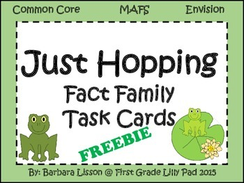 Frog Fact Family Task Cards Common Core MAFS Envision