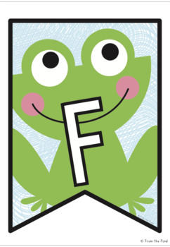 Frog Facts Banner {Bunting, Garland, Pennant Display}