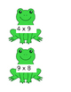 Frog Facts- Interactive Multiplication Bulletin Board