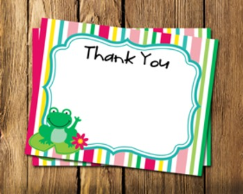 Frog Flat Thank You Note Cards