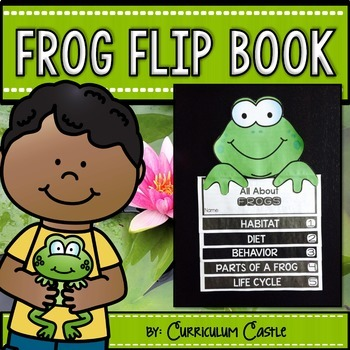 Frogs & Frog Life Cycle Flip Book {Reading Comprehension & Craft}