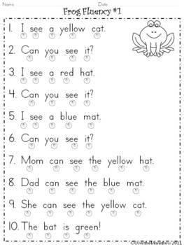 Frog Fluency Pack #1