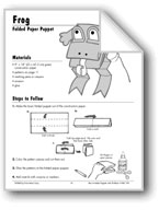 Frog Folded Paper Puppet