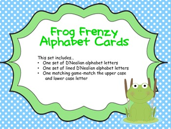 Frog Frenzy Alphabet Cards