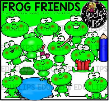 Frog Friends Clip Art Bundle {Educlips Clipart}