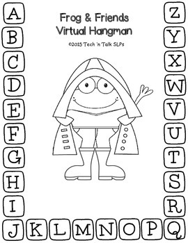 Frog & Friends Virtual Hangman