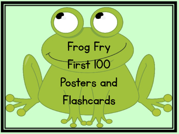 Frog Fry First 100 Words Sight Word Flashcards and Posters