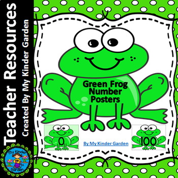 Frog Full Page Number Posters 0-100