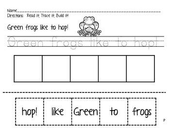 Frog Fun!  ELA & Math Centers