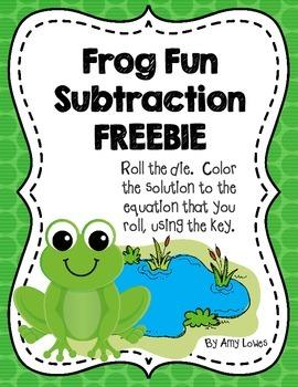 Frog Fun Subtraction FREEBIE
