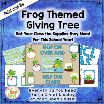 "Frog ""Giving Tree"" / Wish List Donations"