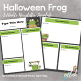 Halloween Frog Newsletter for WORD or PAGES_Generation 2