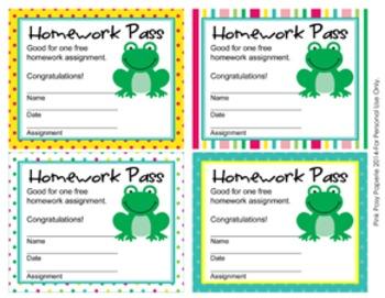 Frog Homework Passes