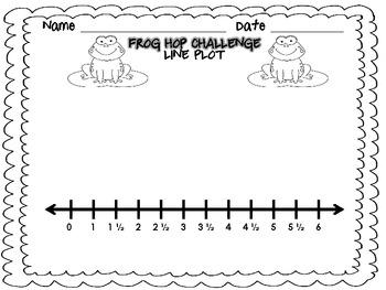 Frog Hop Challenge-Measurement and Line Plots-3.MD.4