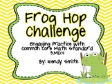 Frog Hop Challenge-Measurement and Line Plots-3.MD.4