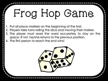 Frog Hop Game - Dolch Grade 1 Sight Words