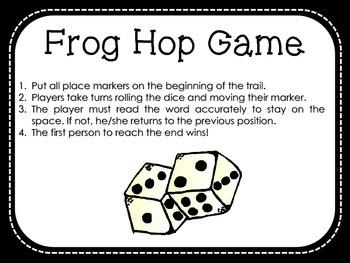 Frog Hop Game - Dolch Primer Sight Words