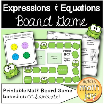 Frog Hop Math Board Game Expressions & Equations