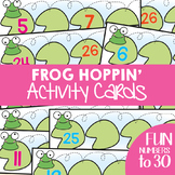 Number Activity Cards - Frog Hoppin