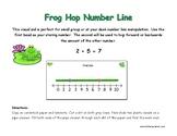 Frog Hop Number Line