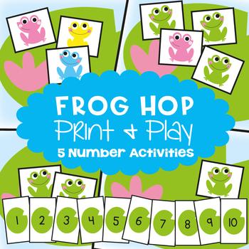 Number Sense Activities - Frog Hop 5 Game Pack