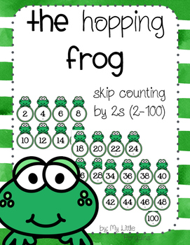 The Hopping Frog Skip Counting Center by 2s (2-100)