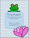Frog Hoppin'- A Number Line Addition Activity