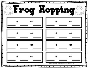 Frog Hopping- Addition Practice
